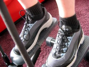 Track your workout on the step trainer