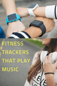 Fitness trackers that play music pin