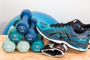 Trainers and weights